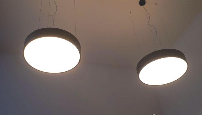 Verlichting op plafond